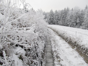 Photo: 17.Okolice Śnieżnicy. Na drodze sporo lodu.
