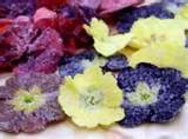Homemade Crystalized Flowers Recipe