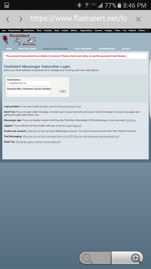 FlashAlert Messenger- screenshot