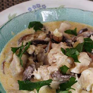 Tilapia and Portobello in Cream Sauce