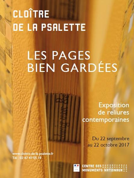 Reliures contemporaines au Cloitre de La Psalette à Tours