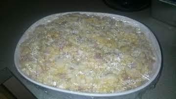 Vanishing Ham, Corn and 4 Cheese Baked MacNCheese!