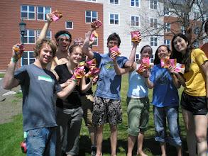 Photo: Sampling O'Cocos outside campus dorms!