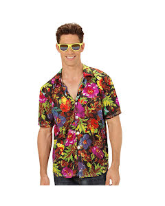 Hawaiiskjorta, XL Svart