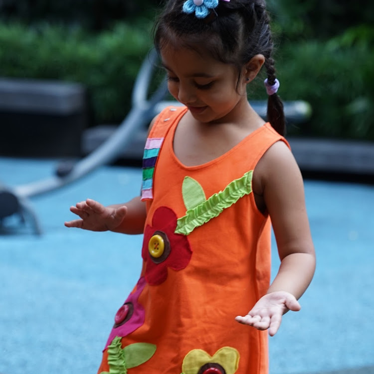Star Moon Spring Dress in Orange (12 months) by Berry Wonderful