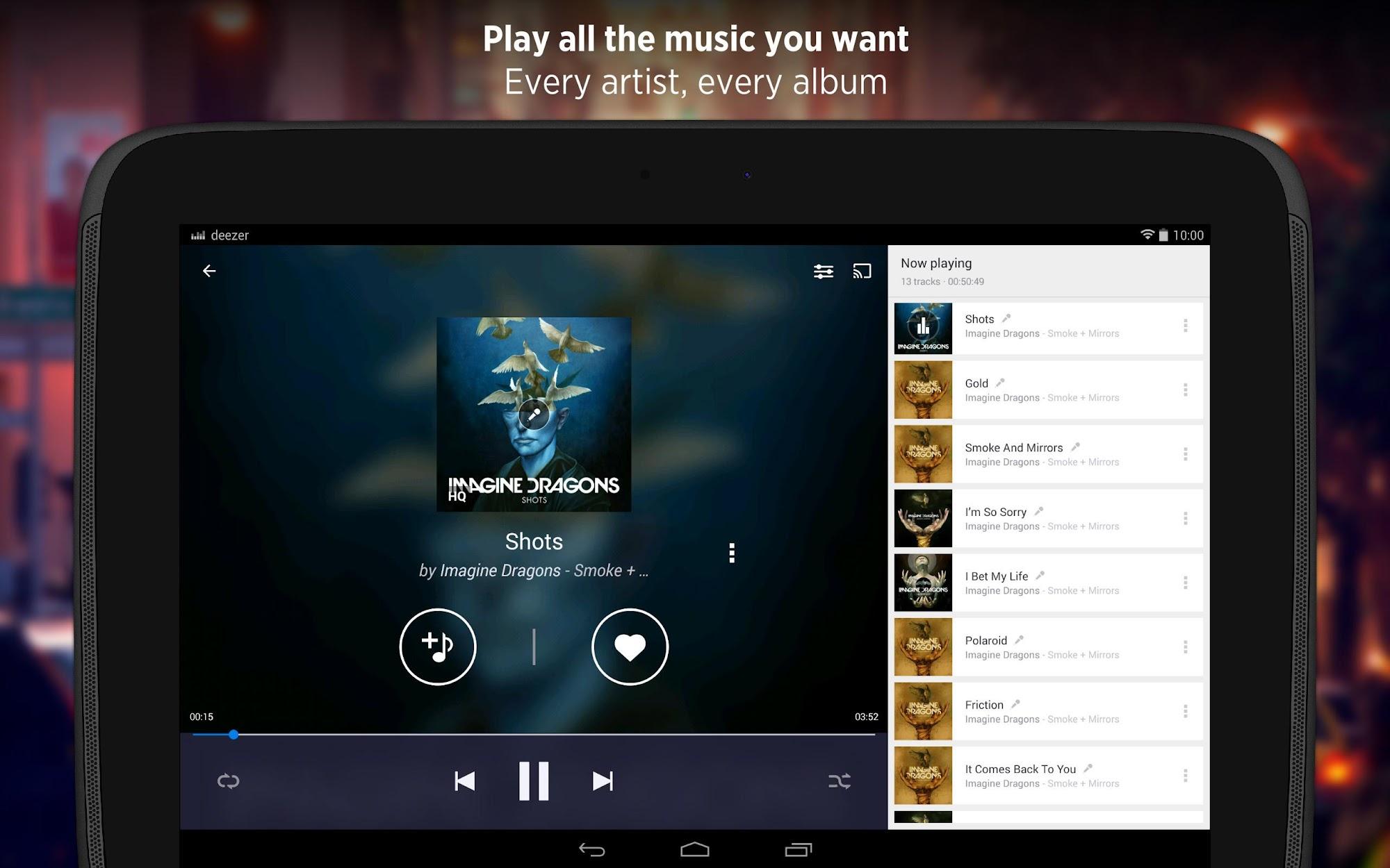 Deezer - Songs & Music Player screenshot #6