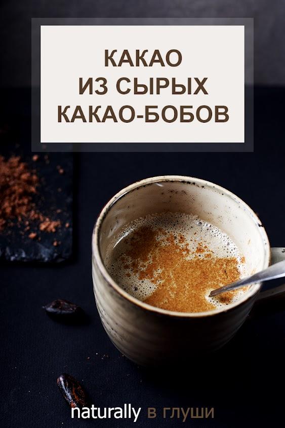 Какао из какао-бобов рецепт | Блог Naturally в глуши