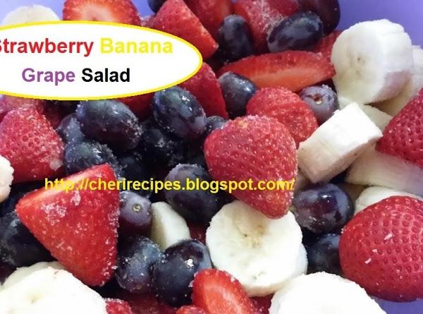 Strawberry Banana Grape Salad Recipe
