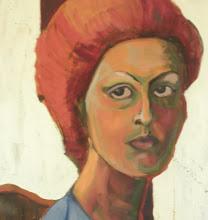 Photo: 1977 Self-Portrait in Evanston, IL. Oil on canvas