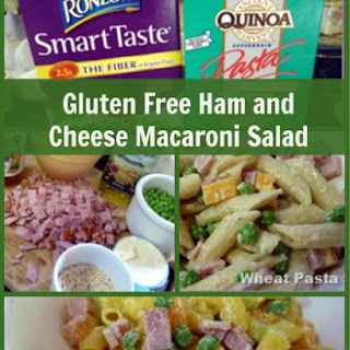 Gluten Free Ham and Cheese Macaroni Salad!