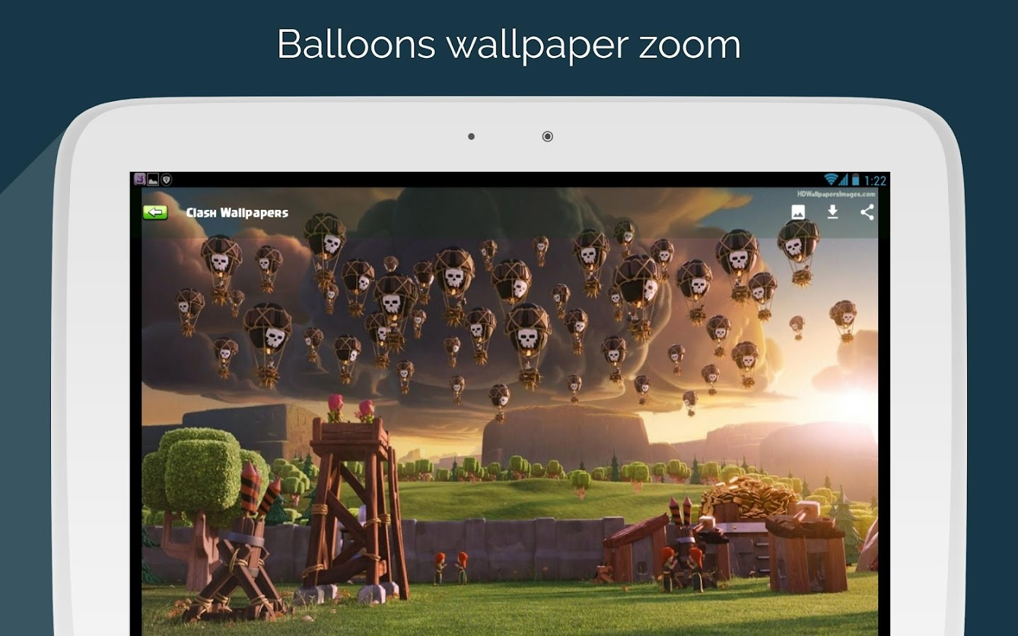 Screenshots of Clash Wallpapers HD - Funny Layouts for iPhone