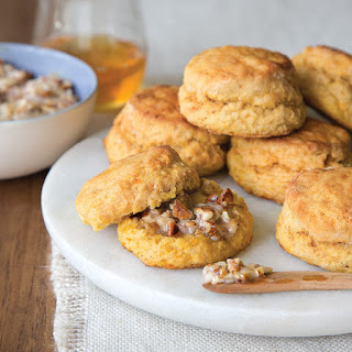 Sweet Potato Biscuits with Honey-Pecan Butter