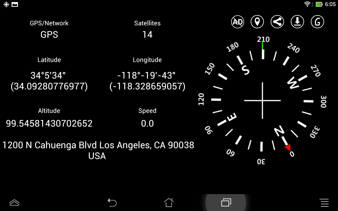 Simple GPS Coordinate Display- screenshot