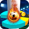 Soccer Star Helix Jump Game