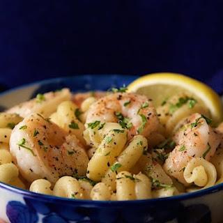 Skillet Shrimp and Pasta Scampi.