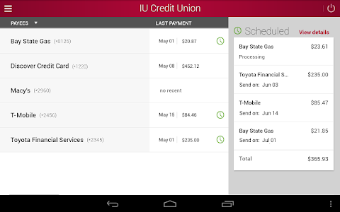 IU Credit Union Mobile Banking screenshot 13