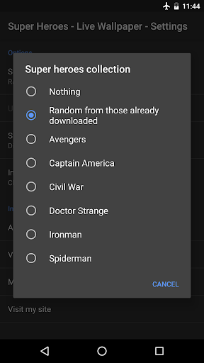 Super Heroes - Live Wallpaper 0.8.0 screenshots 3