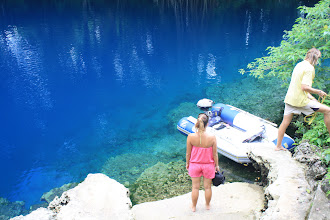 Photo: Rafal and Paula at the blue hole