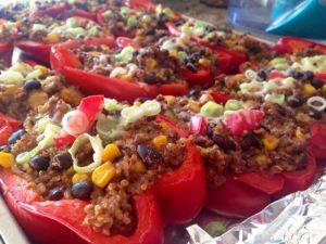 Homemade Stuffed bell peppers