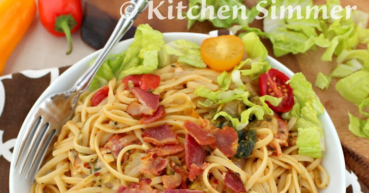 BLT Pasta (Bacon Lettuce and Tomato Pasta) Recipe | Yummly