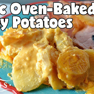 Classic Oven-Baked Cheesy Potatoes #SundaySupper.