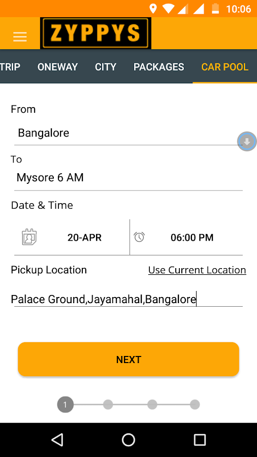 Zyppys: Book Outstation Taxi- screenshot