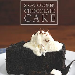 Slow Cooker Dark Chocolate Cake