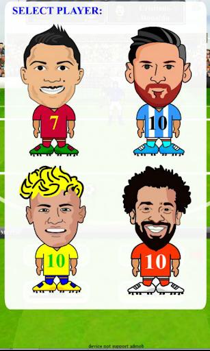 Ronaldo Messi Neymar Salah Football star free kick API29 screenshots 1