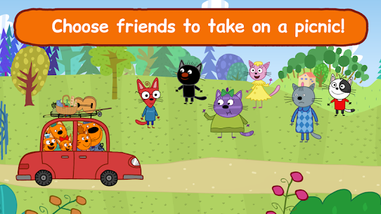 Kid-E-Cats: Three Cats on a Picnic! Kitty Games! 4