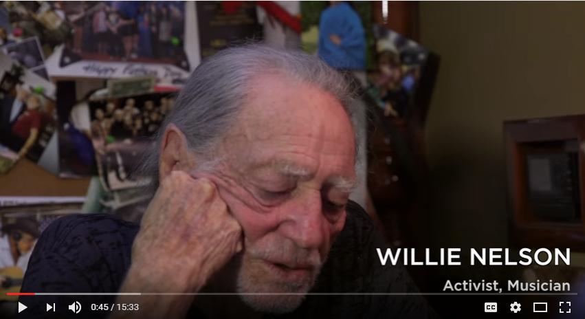 WILLIE NELSON SAVING MARIJUANA