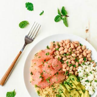 Avocado Couscous Grapefruit Salad with Honey Lime Dressing