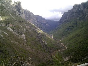 Photo: 12 km long, 900 m deep Vikos gorge is among the deepest in the world