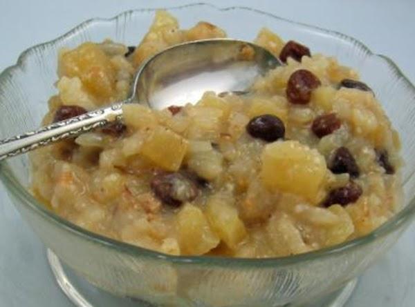 Breakfast Apple-rice Pudding Recipe