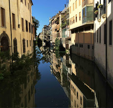 Photo: Fahrzeit von Montegrotto nach Padua: knapp eine Stunde; für die einen mit dem Rad am Kanal entlang, für die anderen mit dem Bus.