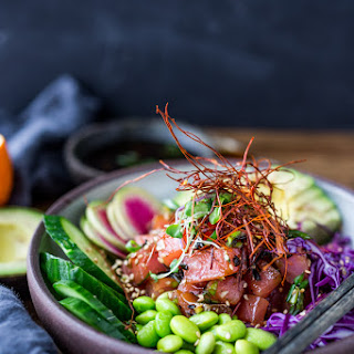 Healthy Poke Bowl ( Vegan Adaptable!).