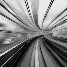 by Hamid Alhabib - Black & White Abstract