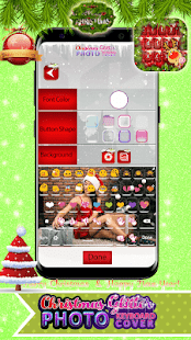 ? Christmas Glitter Photo Keyboard Cover ? - náhled