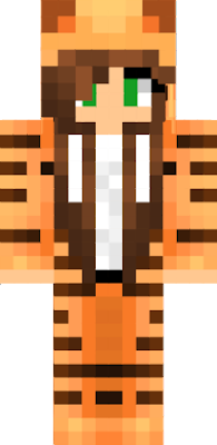 girl in a tiger onesie