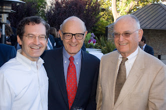 Photo: Event host Bruce Bennett, Dick Volpert, and Fred Stern. © Tom Neerken Photography