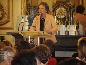 Photo: Catherine Lalumière, Présidente de la Fédération Française des Maisons de l'Europe
