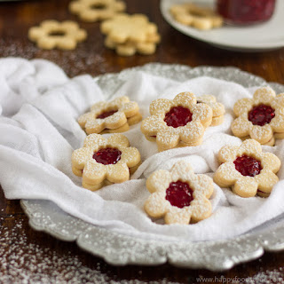 Homemade Linzer Cookies with Raspberry Jam.