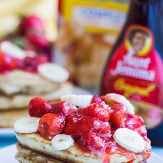 Ultimate Strawberry Banana Pancakes.