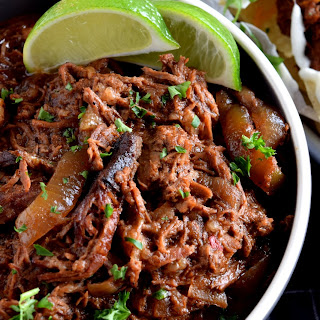 Slow Cooker Barbeque Pulled Beef.