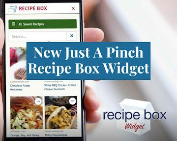 New Just A Pinch Recipe Box Widget