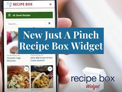 New Just A Pinch Recipe Box Widget