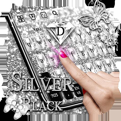 Silver Black Keyboard
