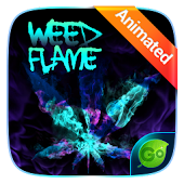 Weed Flame GO Keyboard Animated Theme