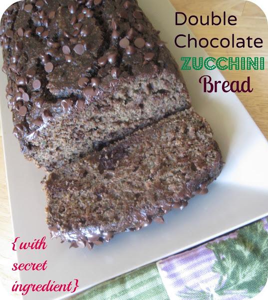 Dbl. Choc. Zucchini Bread {with Secret Ingredient} Recipe