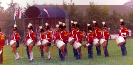 Photo: Drumband, 3e prijs te Siddeburen 1976