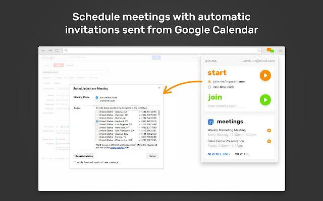 join.me for Google Calendar